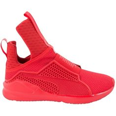 Pre-owned Fenty X Puma Trainers ($210) ❤ liked on Polyvore featuring shoes, sneakers, red, women shoes trainers, puma footwear, puma shoes, pre owned shoes, red shoes and puma sneakers