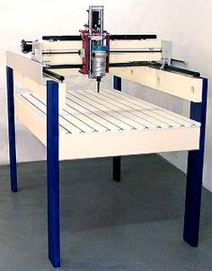 Rack and Pinion and Leadscrew CNC Machine with Wooden Gantry and Carriage