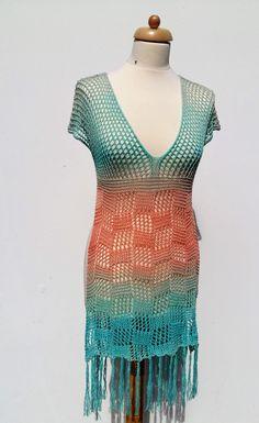Extravékony pamut fonal hosszan színátmenetes. Short Sleeve Dresses, Dresses With Sleeves, Tahiti, Fashion, The Beach, Moda, Sleeve Dresses, Fashion Styles, Gowns With Sleeves