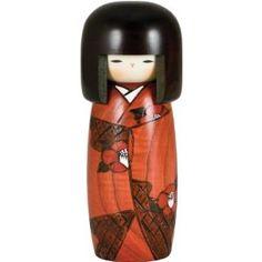 Japanese Kokeshi Doll Hibiscus