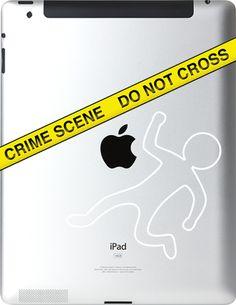 Ipad Decals : Crime Scene