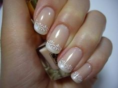 See more about wedding nails design, wedding nails and nail designs. Gorgeous Nails, Love Nails, How To Do Nails, Pretty Nails, Fun Nails, French Nails, Wedding Nails Design, Bridal Nails, Creative Nails