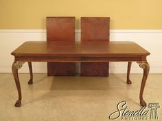 L28823-DREXEL-HERITAGE-Walnut-Carved-Clawfoot-Dining-Room-Table