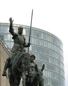 Don Quijote en la Plaza de Espana