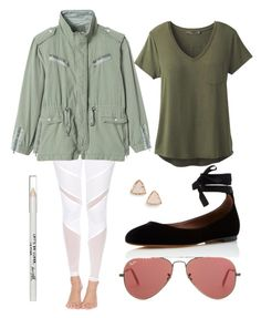 """""""White Leggings"""" by its-the-iz on Polyvore featuring Electric Yoga, Rebecca Taylor, Ray-Ban, Tabitha Simmons, prAna, Kendra Scott and Barry M"""