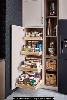 Kitchen Pantry Design, Kitchen Pantry Cabinets, Small Kitchen Organization, Diy Kitchen Storage, Kitchen Drawers, Home Decor Kitchen, Kitchen Interior, New Kitchen, Organized Kitchen