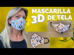 Easy Face Masks, Diy Face Mask, Mascara 3d, Tapas, Diy Mask, Sewing Tutorials, Fabric, How To Make, Influenza