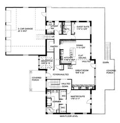 First Floor Plan of House Plan 86620