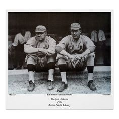 Babe Ruth as a Red Sox player Poster