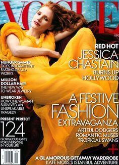 Jessica Chastain - Vogue December 2013
