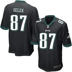 Mens Nike Philadelphia Eagles http://#87 Brent Celek Limited Alternate Black Jersey$69.99