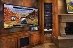Family room theater with Savant, custom install-able by Kozi Media Design! \ https://www.kozimediadesign.com #Kozinfo 877.746.5694