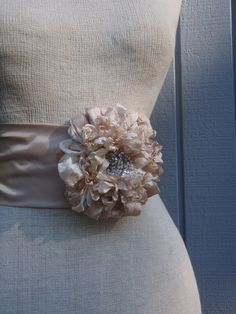 A personal favorite from my Etsy shop https://www.etsy.com/listing/196610018/bridal-sash-belt-wedding-sash-flower