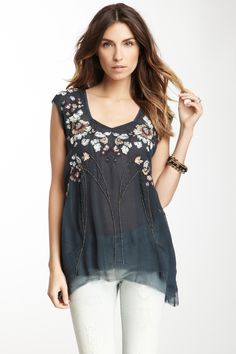 Free People Embroidered Nights Top on HauteLook