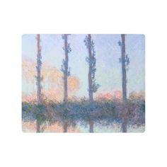 The Four Trees by Claude Monet Metal Print -nature diy customize sprecial design