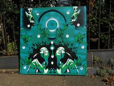 Hey, I found this really awesome Etsy listing at https://www.etsy.com/listing/112938937/painting-in-green-of-afro-womengarden-of