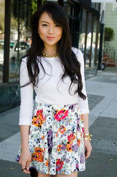 Adorable skirt and vintage jewels from Sweet & Spark