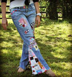 1970s look! Altering Jeans Tutorial | HUNGRYHIPPIE