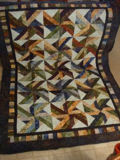 Finished Trade Winds Batik Quilt