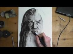 someones drawing of gandalf from lord of the rings... WOW!