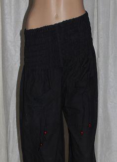 Harem Pants – Cotton Harem Pants,Black Hippie Pants,Loose Pants – a unique product by IndianCraftPalace on DaWanda