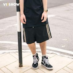 FuzWeb:VIISHOW Shorts Men New Shorts For Men Summer Fitness Shorts Men Casual Fifth Loose Drawstring Shorts KD1232172