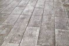 Wood Pattern Stamped Concrete Patio                              …