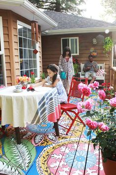 painted deck DIY from Alisa Burke                                                                                                                                                      More