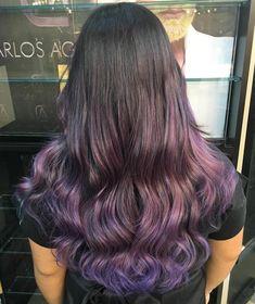 Subtle Purple Ombre For Brunettes
