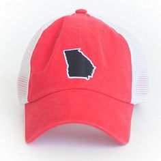 b68ccded123 Georgia Athens Gameday Trucker Hat in Red by State Traditions. Georgia Hats  ...