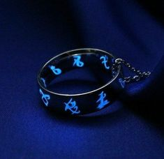 Glow in the Dark Rune Ring Stainless Steel, Glow in the Dark Jewelry, Geekery, Parabatai Ring, Glowing Dark Souls, Clary Et Jace, Dark Fantasy, Shadowhunters Series, Rune Tattoo, Fandom Jewelry, Ring Necklace, Bracelet, The Infernal Devices
