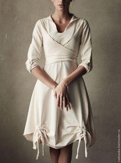 """Купить Платье """"Полимино-Молочная нежность"""" с возможностью вариаций элементов - платье, платье на заказ"""