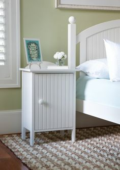 Side Table by Maine Cottage | Island Bedside Cabinet #colorfulfurniture