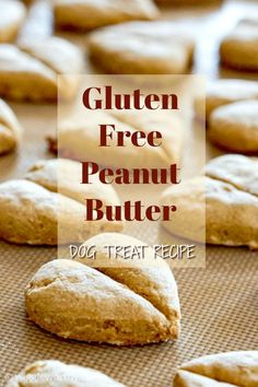 These delicious gluten free peanut butter dog treats are packed full of nutritious ingredients and are naturally sweetened with banana and honey. Homade Dog Treats, Peanut Butter Dog Treats, Gluten Free Peanut Butter, Best Peanut Butter, Diy Dog Treats, Homemade Dog Food, Easy Dog Treat Recipes, Dog Food Recipes, Animal Nutrition