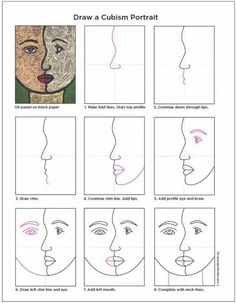 How-to-Cubism-diagram-1024x681... Starting point for a step by step jow to lesson... Could work with a partner and draw what they see from various angles