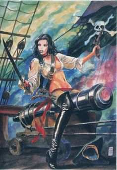Yo ho, Yo ho, a pirates life for me.......Milo Manara