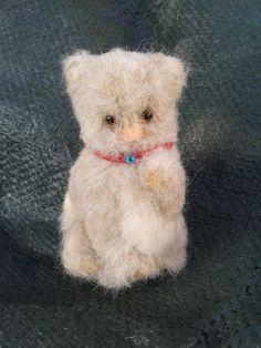 "Needle felt Miniature Kitty 3"" Needle Felting, Miniatures, Teddy Bear, Kitty, Gift Ideas, Unique Jewelry, Handmade Gifts, Animals, Vintage"