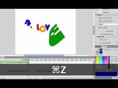Flash Tutorial | How to create a simple logo using text from any font