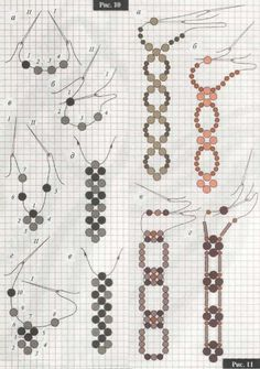 Different chains of beads - two needle approach.  #Seed #Bead #Tutorials