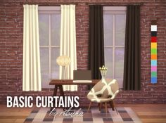 I did a quick recolor of the serenity curtains by Severinka. It's a nice simple set. I used Veranka's color palette because I enjoy the maxis-match feel it has.  Download Here  Hope you all enjoy these!