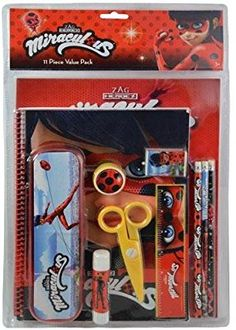 Miraculous Ladybug 11 Piece School Supply Stationery Value Pack Set Miraculous Ladybug Toys, Miraculous Ladybug Wallpaper, Ladybug Crafts, Ladybug Party, Muñeca Baby Alive, Diy Gift For Bff, Baby Doll Accessories, Accessoires Iphone, Barbie Birthday