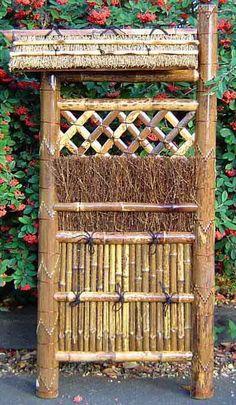 Bamboo Brushwood Fence Panel. Dry GardenBamboo GardenBamboo FencingJapanese  ...
