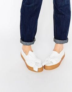 42cd6f1748ccd ASOS DOLLY Bow Sneakers Espadrilles D été, Chaussures À Talons, Mocassins,  Womens