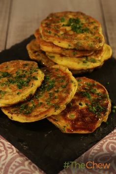 Make these savory Spring Pea Pancakes with the flavors of spring!