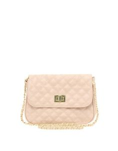 ASOS nude crossbody bag! I have the same one in a light taupe colour and it's my fave bag :) Around $27.00