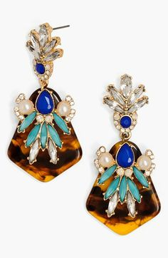 BaubleBar Cluster Drop Earrings Blue Multi/ Black/ Gold by: BaubleBar
