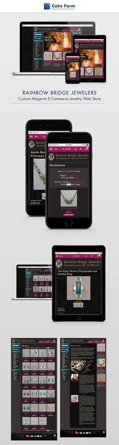 Responsive Magento e-commerce web design Ux Design, Graphic Design, Powerful Art, Information Architecture, Rainbow Bridge, 30 Years, Programming, Ecommerce, Jewelry Design