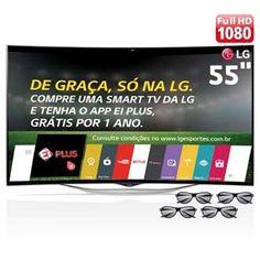 "[EXTRA] Smart TV 3D OLED Curved 55"" Full HD LG 55EC9300 - R$ 5.699,05 boleto ou 1x CC"