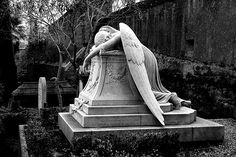 Angel of Grief, or weeping angel.  Angel of Grief group on flickr