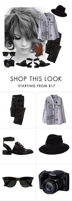 """Untitled #239"" by mrsbradford ❤ liked on Polyvore featuring Wrap, Balenciaga, Maison Michel, Ray-Ban and Dents"